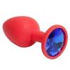 Красная силиконовая пробка с синим стразом (7,1 см). Вид 1.