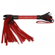 Красно-черная плетка из натуральной кожи (51 см)