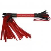 Красно-черная кожаная плётка (51 см)