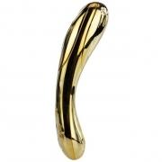 Премиум-вибромассажер покрытый золотом, с функцией нагрева