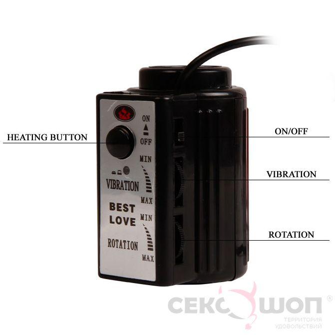 Реалистичный вибратор с ротацией и подогревом Fiery Dong. Вид 5.
