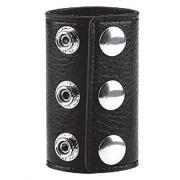 Чёрная утяжка на кнопках 100% PVC STRAP WITH METAL SNAP