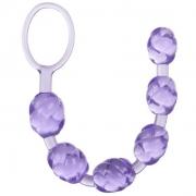 Фиолетовые анальные шарики Swirl Pleasure Beads