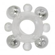 Эрекционное кольцо с бусинами BASIC ENHANCER