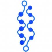 Набор голубых анальных бус Posh Silicone O Beads