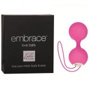 Розовые вагинальные виброшарики Embrace