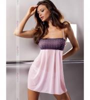 Милая сорочка Muna с ажурным лифом (S-M, розовая)