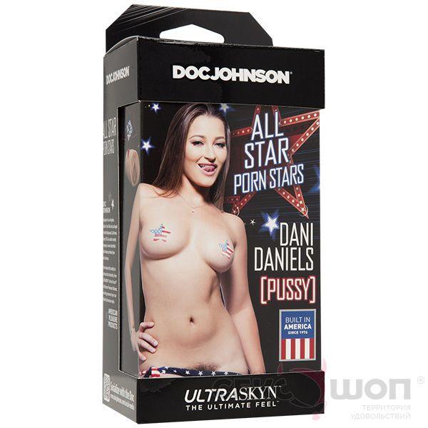 Реалистичный мастурбатор для члена Dani Daniels. Вид 3.