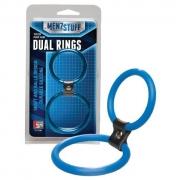 Двойное эрекционное кольцо Dual Rings Blue (синее)