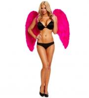 Большие крылья из натуральных перьев DARK DELIGHT (розовые)