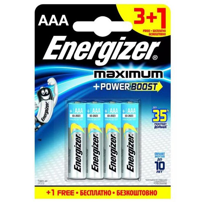 Батарейки Energizer MAX типа E92/AAA (4 шт.). Вид 1.