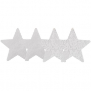 Набор из белых пэстисов-звезд сатиновых и кружевных Luminous