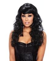 Кудрявый парик черного цвета Fierce