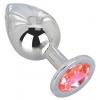 Большой стальной плаг с розовым кристаллом Pink Bubble Gum (9,5 см). Вид 1.