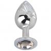Большой стальной плаг с серым кристаллом Silver Rain (9,5 см). Вид 1.