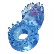 Эрекционное кольцо с клиторальным язычком и шипиками