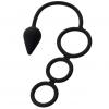Тройное эрекционное кольцо с анальным хвостом Drop S-size. Вид 2.