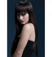 Каштановый парик с длинными прямыми волосами Jessica