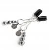 Металлические зажимы на соски Adjustable Nipple Clamps. Вид 1.
