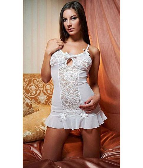 Кружевная сорочка Christelle (M-L, белый). Вид 1.