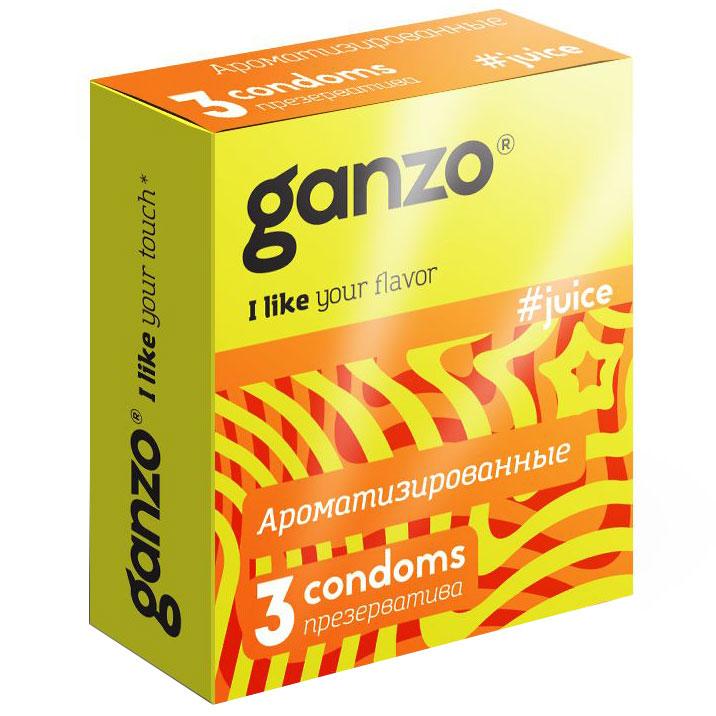 Презервативы с ароматами Ganzo Juice (3 шт.). Вид 1.
