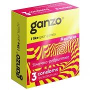 Презервативы с точечной и ребристой структурой Ganzo Extase (3 шт.)