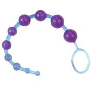 Анальная цепочка из десяти шариков (фиолетовая)