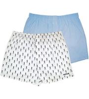 Комплект из 2 мужских трусов-шортов: голубые и белые (S)