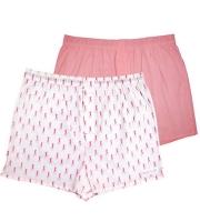 Комплект из 2 мужских трусов-шортов: розовые и белые (S)