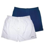 Комплект из 2 мужских трусов-шортов: синие и белые (S)