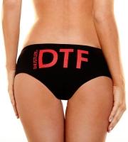 Женские трусики Hustler с аббревиатурой DTF (M-L)