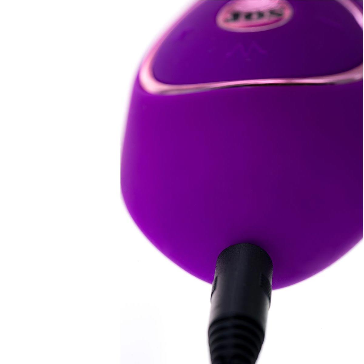 Фиолетовый ротатор с клиторальным стимулятором YUM. Вид 6.