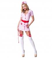 Розовый костюм похотливой медсестры (M-L)