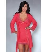 Женственный ночной комплект Luisanna (S-M, розовый)