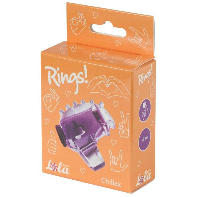 Насадка на палец Rings Chillax (фиолетовая). Вид 2.