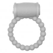 Эрекционное кольцо с вибрацией Rings Drums (белое)