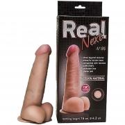 Телесный фаллоимитатор  на присоске  REAL Next №86 (21 см)