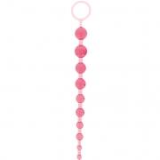 Розовая анальная цепочка