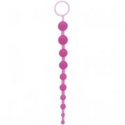 Фиолетовая анальная цепочка ORIENTAL JELLY BUTT BEADS 10.5 PURPLE