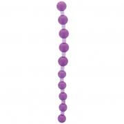 Фиолетовая анальная цепочка JUMBO JELLY THAI BEADS