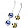 Синие и золотистые вагинальные шарики Nalone Yany. Вид 1.