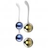 Синие и золотистые вагинальные шарики Nalone Yany. Вид 2.
