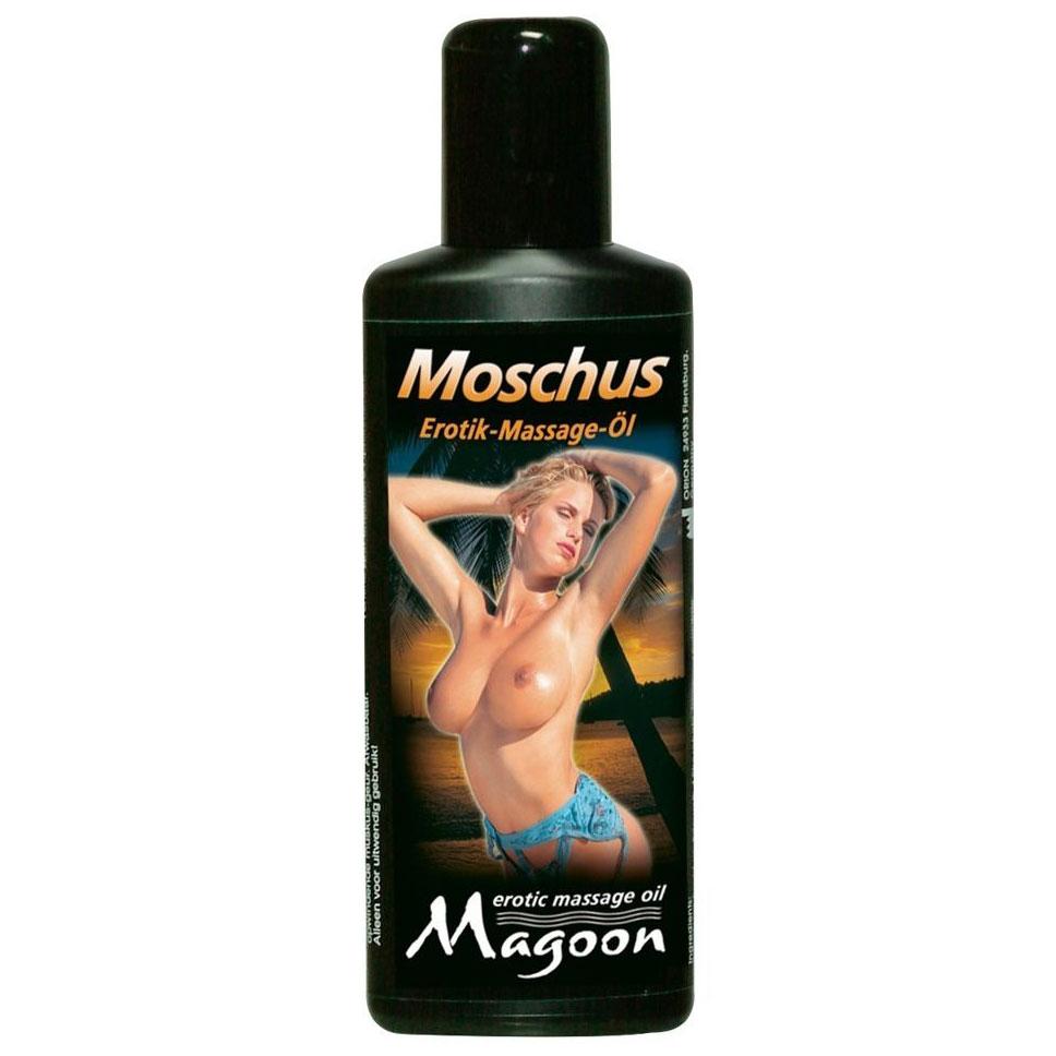 Массажное масло с ароматом мускуса (100 мл). Вид 1.