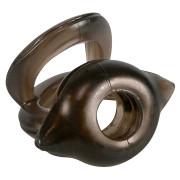 Эрекционное кольцо с подхватом мошонки Naughty Toys Cockring