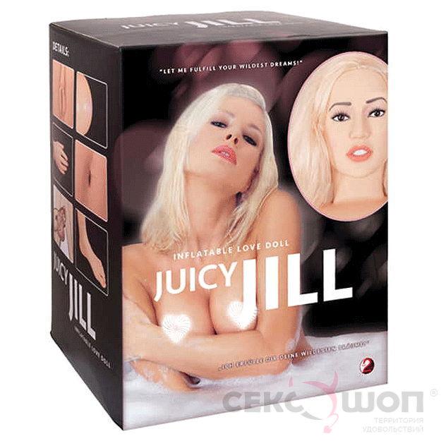 Надувная кукла с реалистичным лицом и конечностями Juicy Jill. Вид 2.