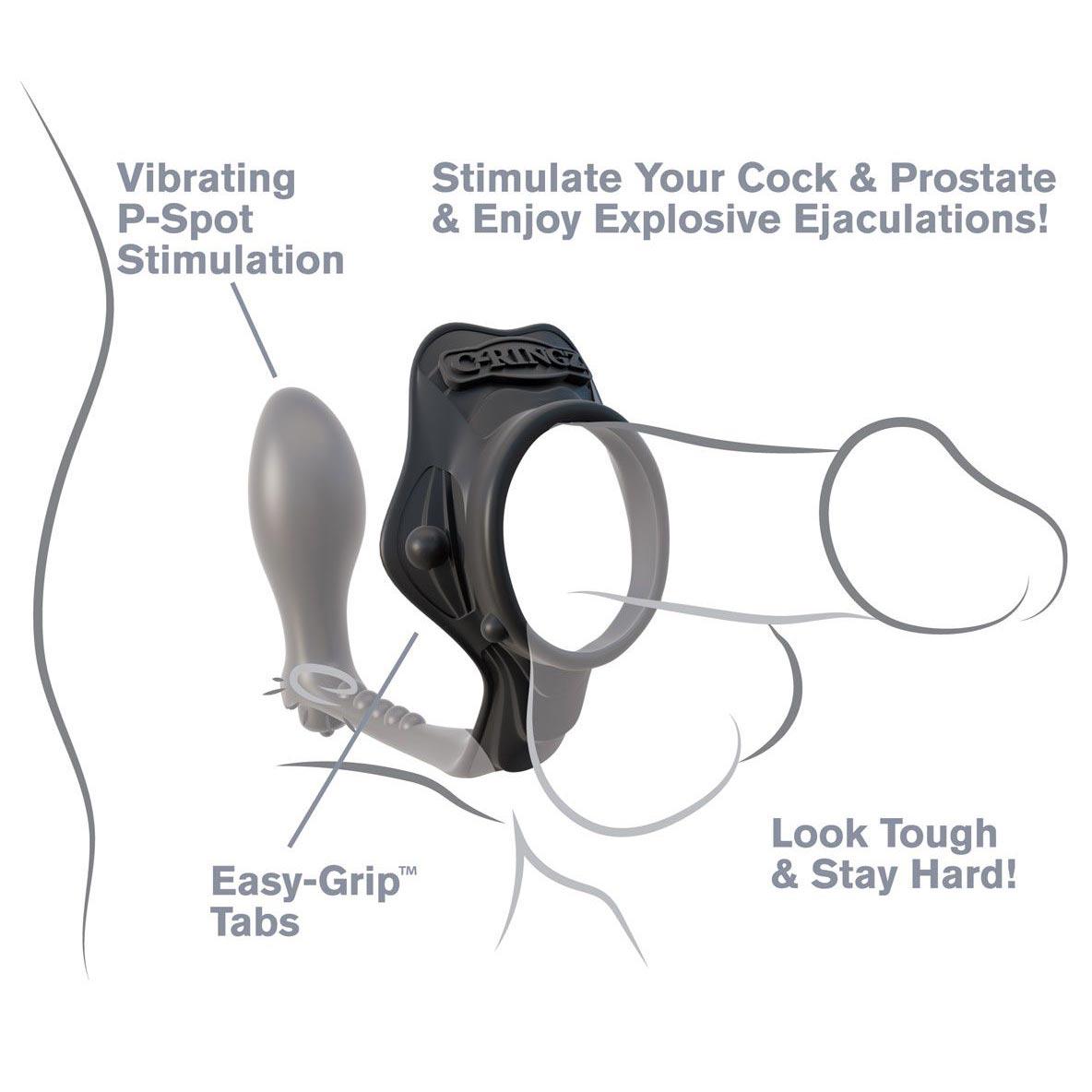 Эрекционное кольцо с анальным стимулятором Rock Hard Ass-Gasm. Вид 6.