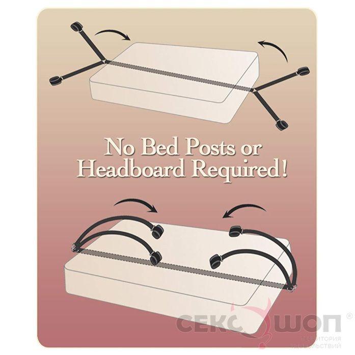Бондажный набор для кровати Bed Bindings Restraint Kit. Вид 3.