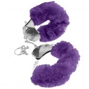Наручники из металла Original Furry Cuffs с фиолетовым мехом