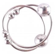 Серебристые колечки для сосков Silver Nipple Bull Rings