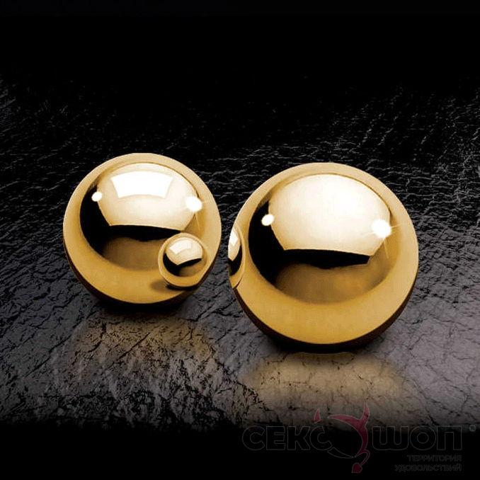 Металлические вагинальные шарики Ben-Wa Balls (золото). Вид 2.